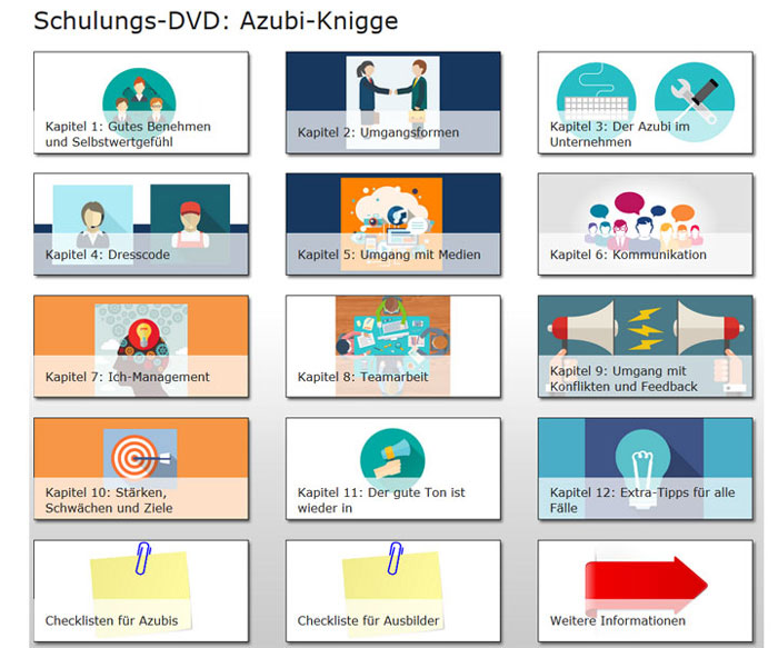 Schulungs-DVD: Azubi-Knigge Screenshot